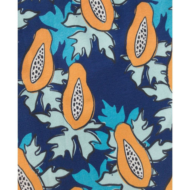 Mata Traders Summer Sonnet Dress Papaya print detail