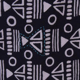 Sydney Screen Printed Dress Black fabric detail