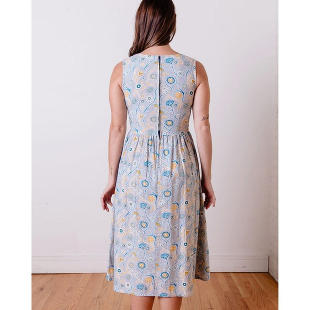 Sydney Midi Dress Blue Suzani back