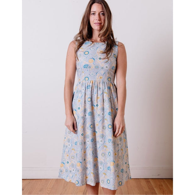 Sydney Midi Dress Blue Suzani front