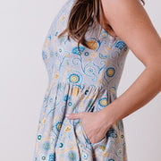 Sydney Midi Dress Blue Suzani detail