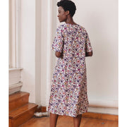 Twyla Dress Fuchsia Suzani back
