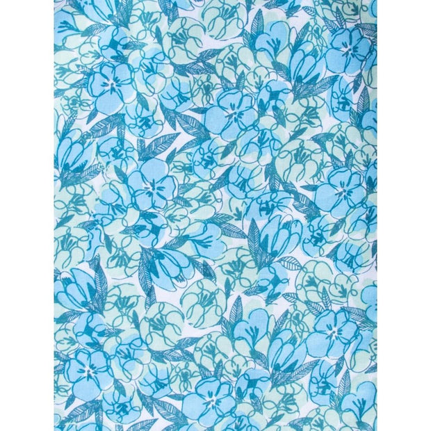 Vignette Dress Blue Floral fabric print detail