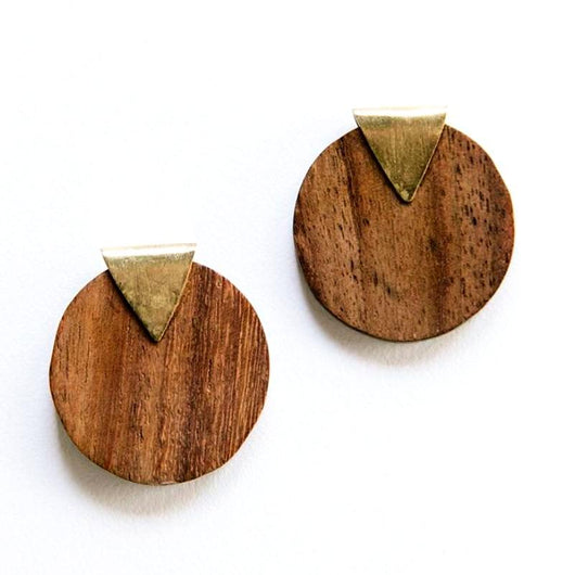Mata Traders Camilla Wood Stud Earrings