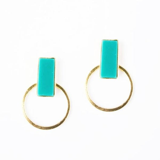Hadley Stud Earrings Turquoise by Mata Traders