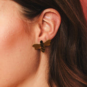 Honey Bee Stud Earrings lifestyle