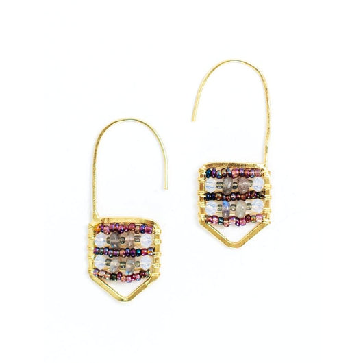Kinsley Hook Earrings Purple