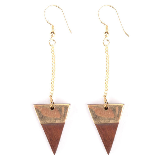 Trailing Triangle Earrings by Mata Traders