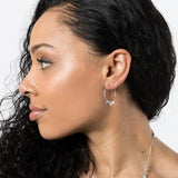 Zander Hoop Earrings Silver model