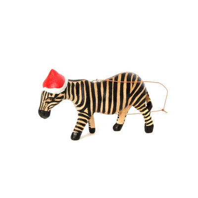 Santa's Little Zebra Helper Ornament