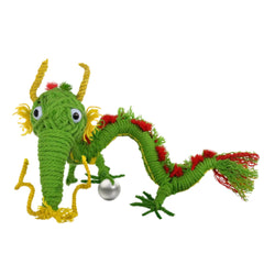 Long Green Dragon Kamibashi String Doll Keychain