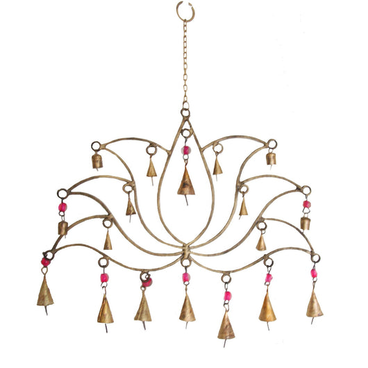 Lotus Chime with beads and copper bells