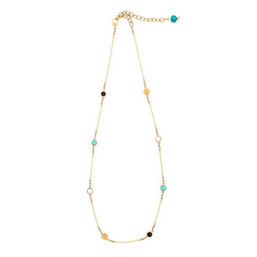 Mata Traders Dainty Dot Necklace Multi