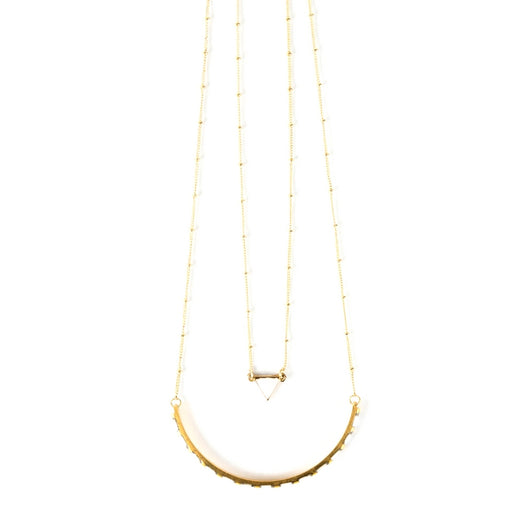 Nadira Necklace White by Mata Traders