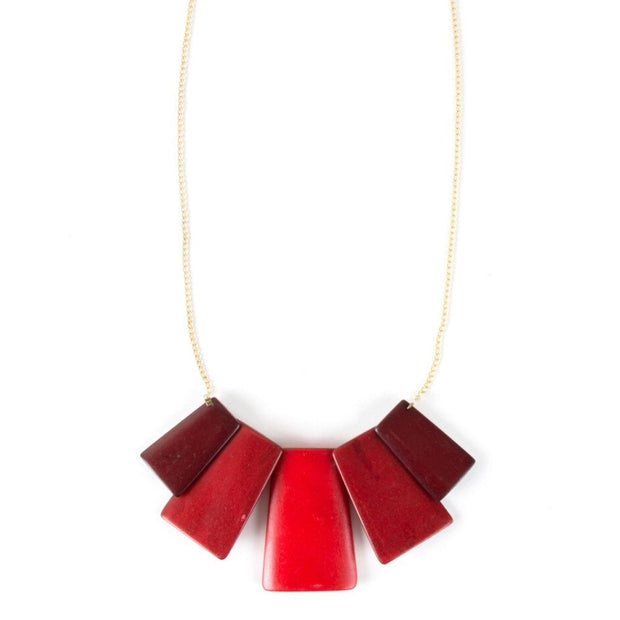 Voyager Necklace Red by Mata Traders