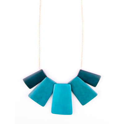 Voyager Necklace Teal by Mata Traders