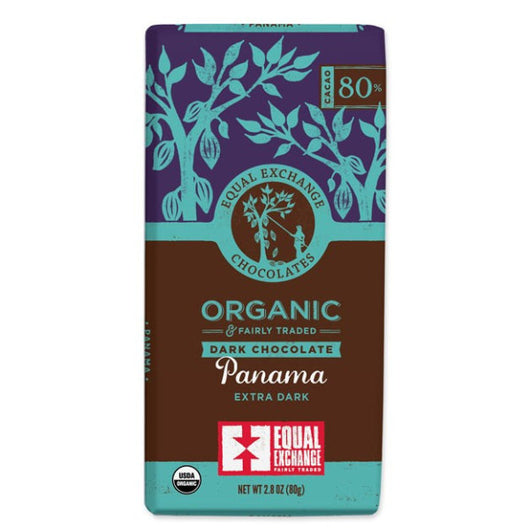 Organic Panama Extra Dark Chocolate (80% Cacao) 80g Bar