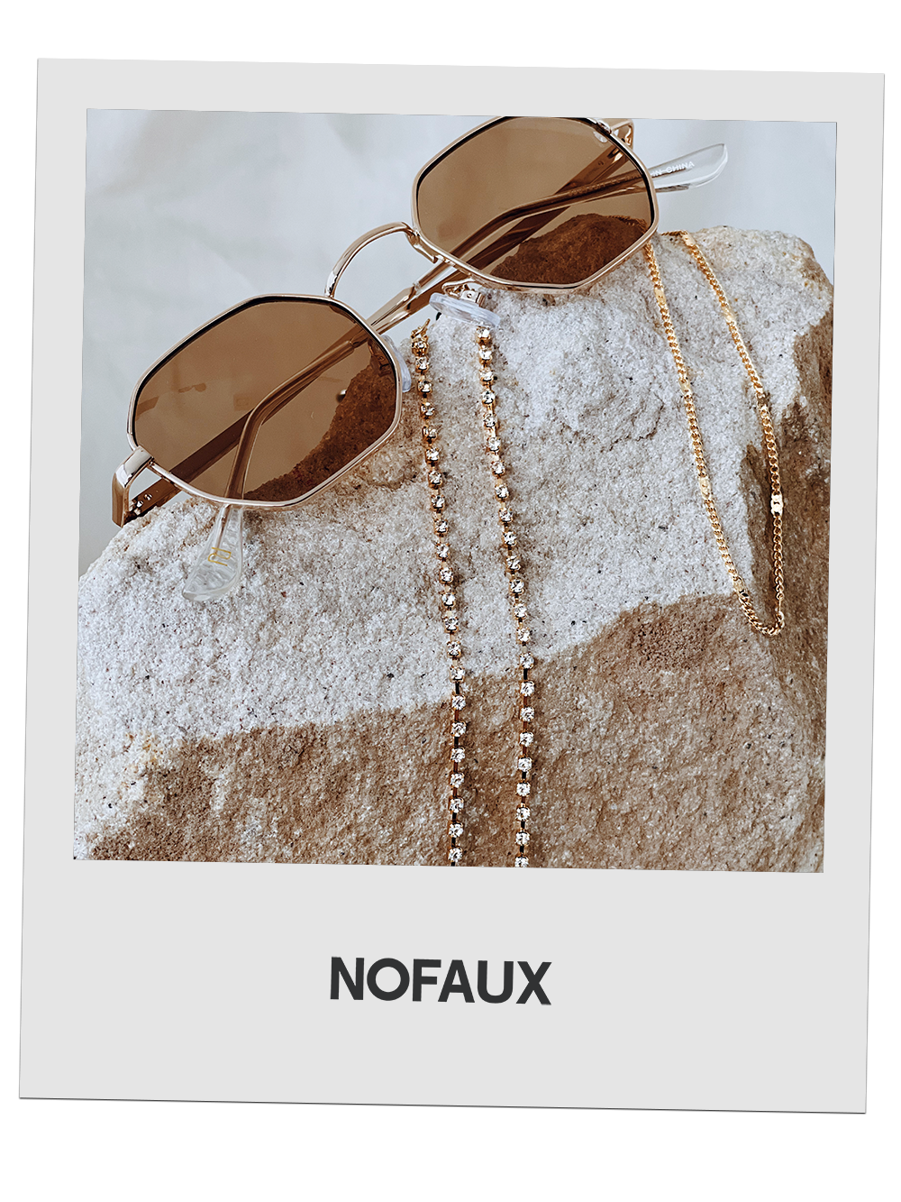 NOFAUX Diamond Drip Sunglasses Chain