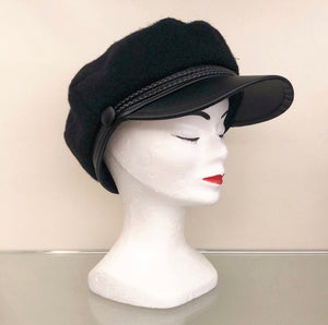 BAKER BOY HAT Visiera Ecopelle