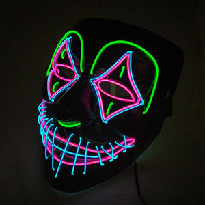 Multi-Colored El Light Mask