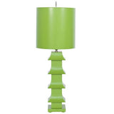 winter to spring colorful green lamp