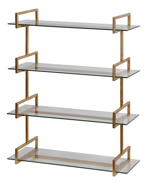 Elegance Wall Shelf – Gold Leaf