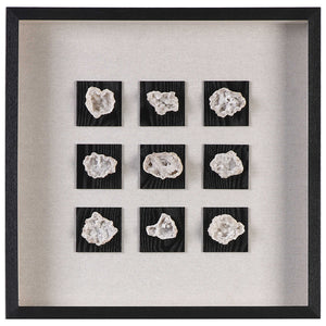 Natural Geodes Shadow Box Wall Art – Black & Neutrals