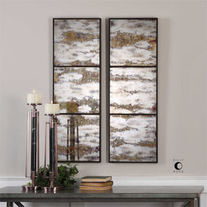 Abstract Mirrored Artwork - Set of 2