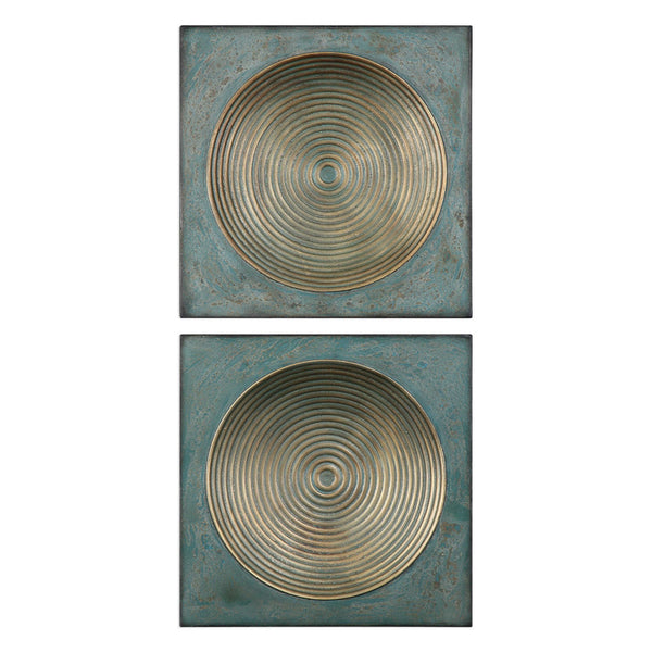 Circle in Square Artwork – Set of 2