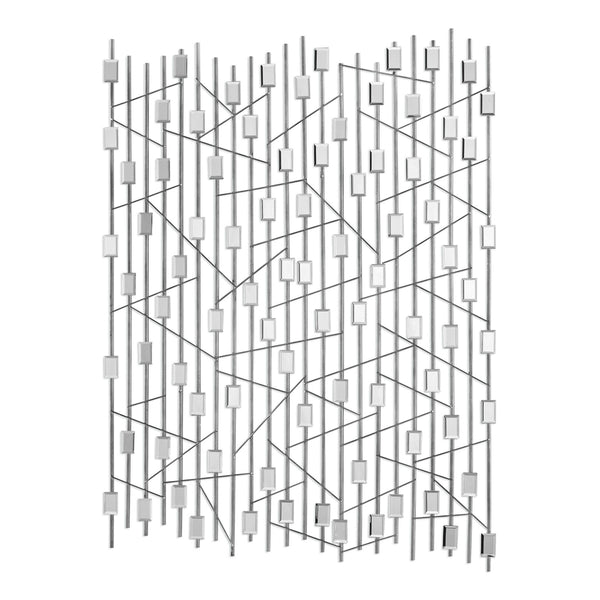 Mirrored Links Wall Art - Silver Leaf