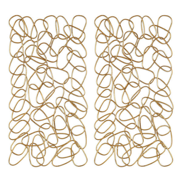Golden Loops Wall Art – Set of 2
