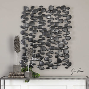 Falling Pebbles Dimensional Iron Wall Art