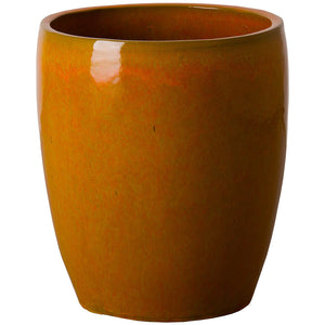 Bullet Ceramic Planter - Bright Orange