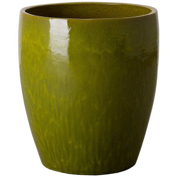 Bullet Ceramic Planter- Avocado Green