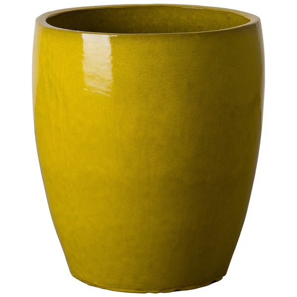 Bullet Ceramic Planter- Mustard Yellow