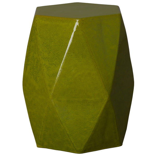 Faceted Garden Stool – Green