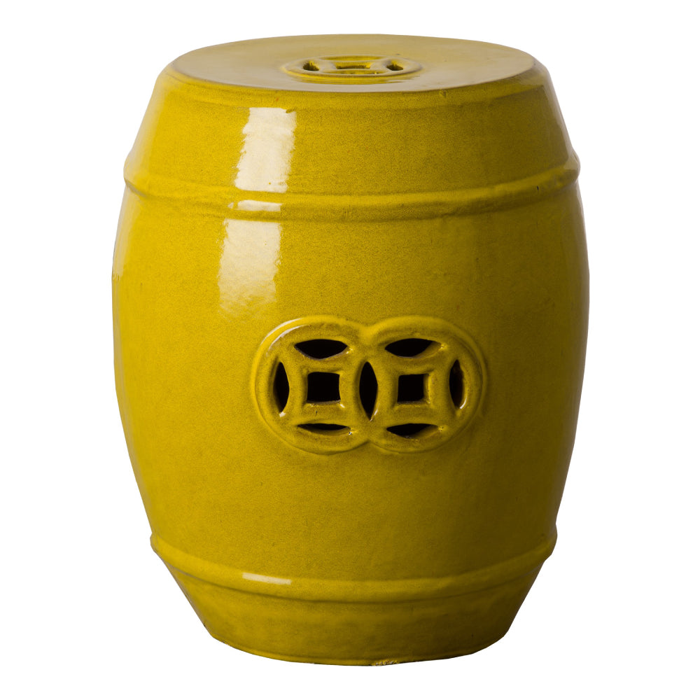 Fortune Garden Stool – Mustard Yellow