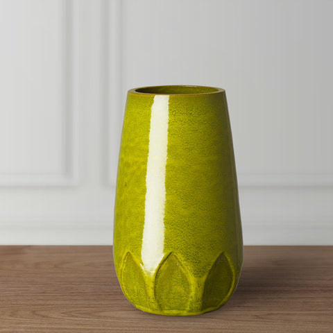Calyx Relief Vase - Green