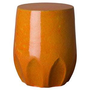 Calyx Relief Garden Stool – Burnt Orange