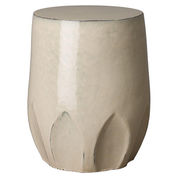 Calyx Relief Garden Stool – Cream
