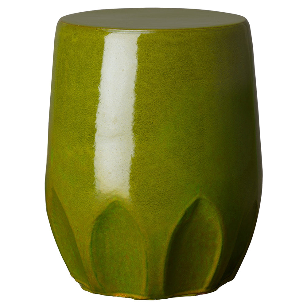 Calyx Relief Garden Stool – Green
