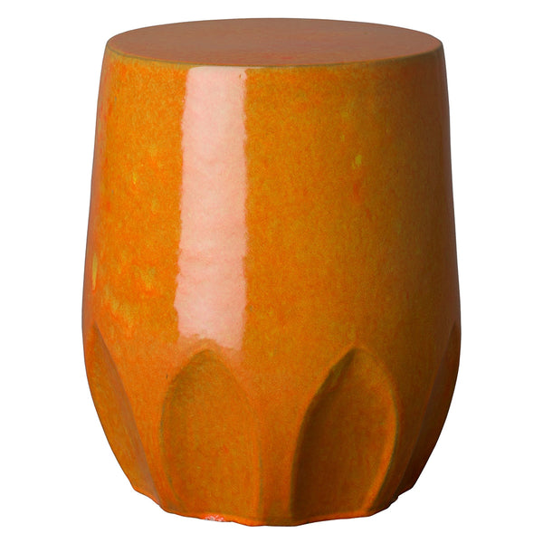 Large Calyx Relief Garden Stool – Burnt Orange