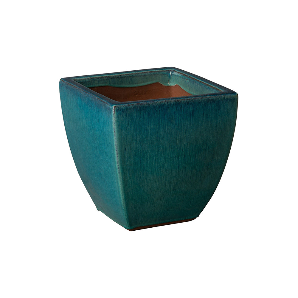 Small Tapered Square Planter - Teal