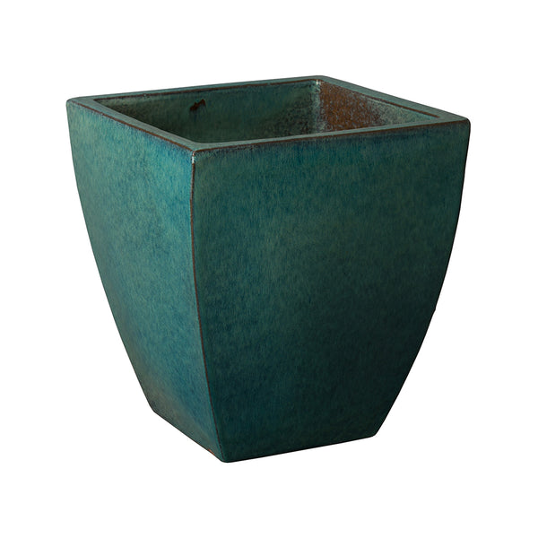 Medium Tapered Square Planter - Teal