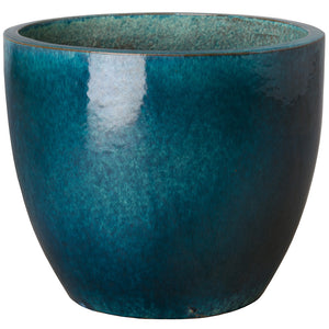Large Tapered Round Planter - Teal