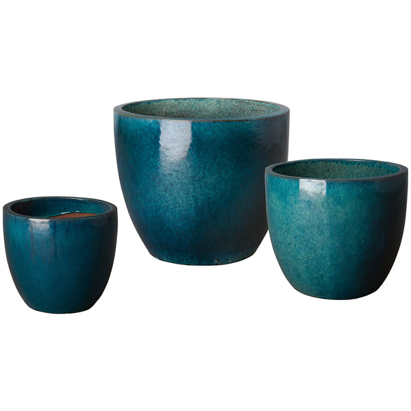 Medium Tapered Round Planter - Teal
