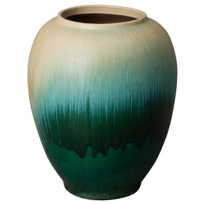 Large Round Cascade Jar – Green Ombre