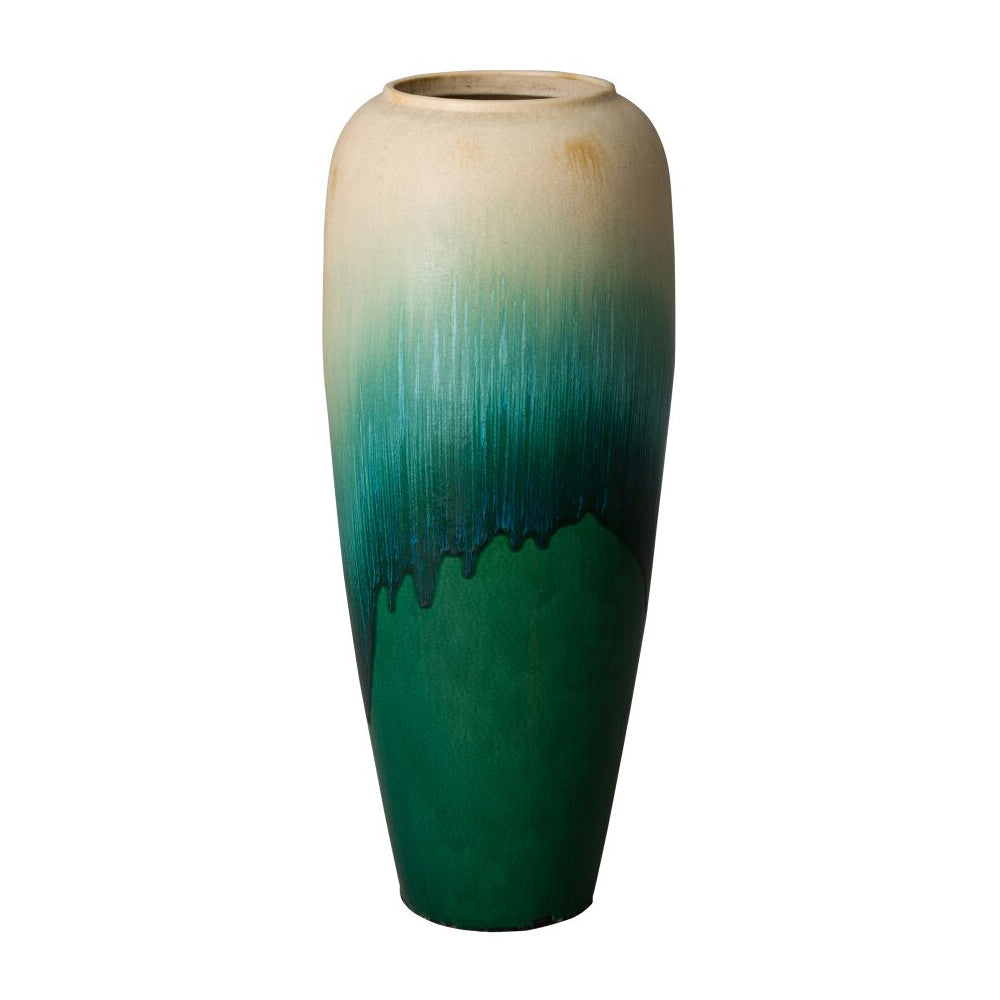 Tall Cascade Jar – Green Ombre