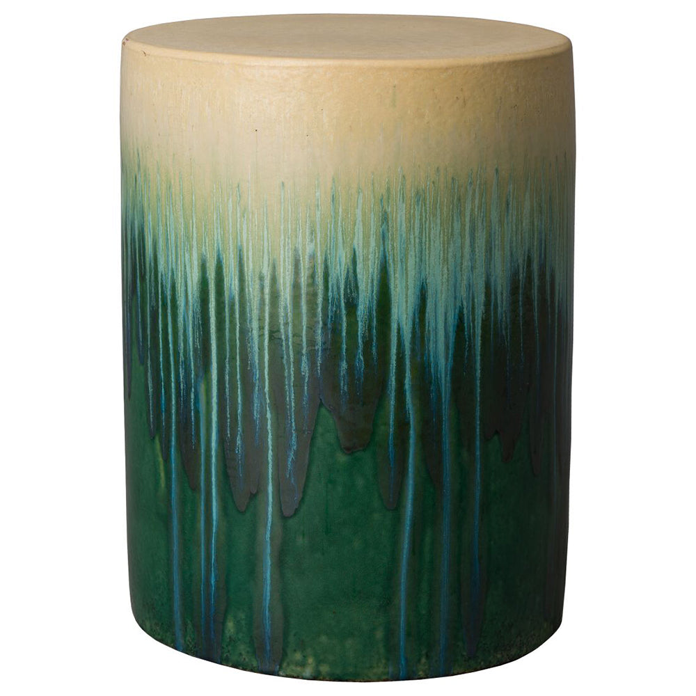 Round Cascade Garden Stool/Table – Green Ombre