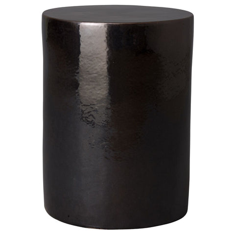 Round Garden Stool/Table – Black Metallic